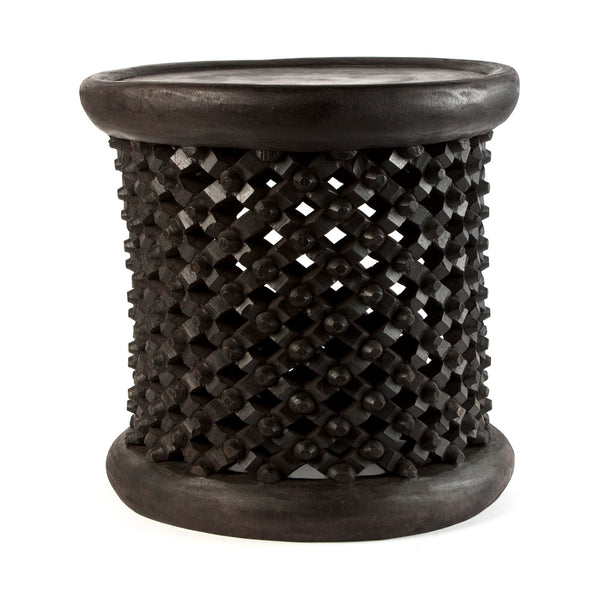 Bamileke Table - Small Dark