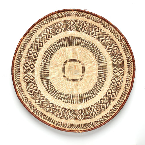 Blonde Patterned Binga/Tonga Basket Extra Large