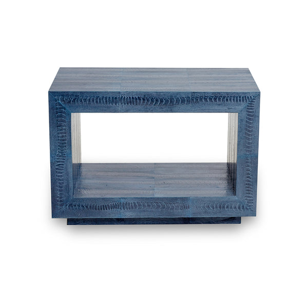 Ostrich Blue Jean Side Table
