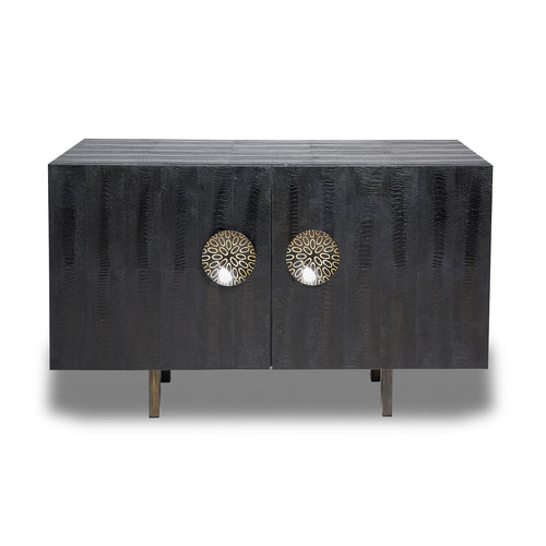 Ostrich Bronze Buffet with Horn Handles