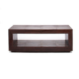 Ostrich Dark Brown Cube Coffee Table or Bench