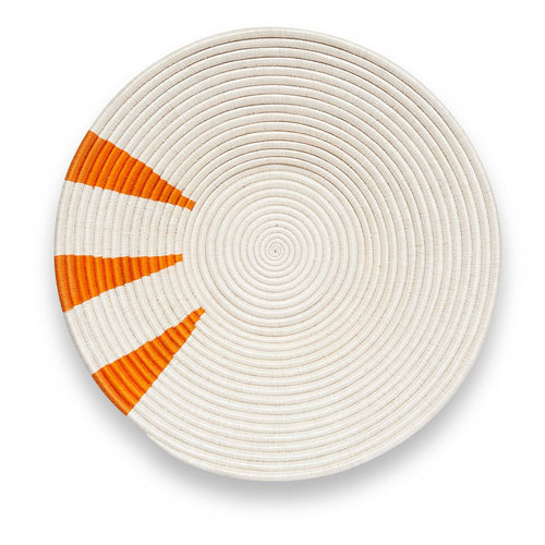 White & Orange Pie Slice Basket