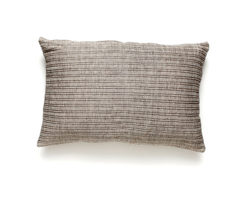 Organic Neutral Grey and Beige Lumbar Pillow