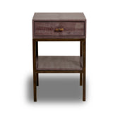 Ostrich Perla Rosa Side Table