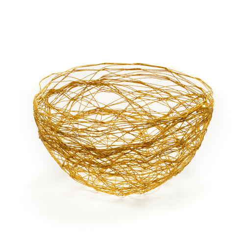 Large String Bowl Mustard