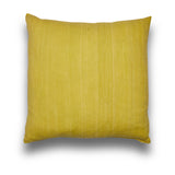 Handspun Linen Slub Lemon Large Square Cushion