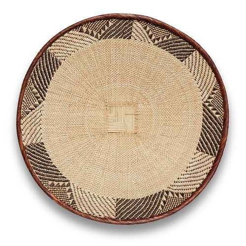 Blonde Patterned Binga/Tonga Basket Medium
