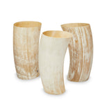 White Cow Horn Vase - Medium