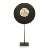 Black Cowrie Shield on Stand