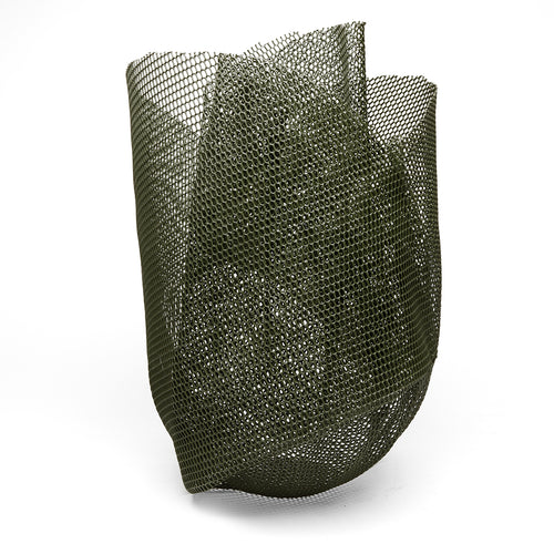 Forest Green Mesh Sculpture Vase - Large