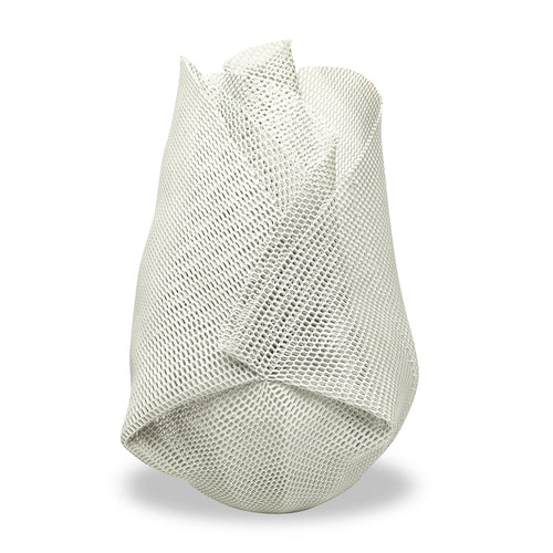 Light Grey Mesh Sculpture Vase - Large