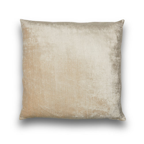 Silk Velvet IKAT Cream Square Pillow
