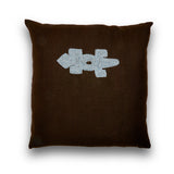 Linen Beaded Lizard Large Square Pillow
