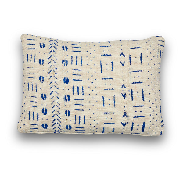 Genuine Blue White Mudcloth Mini