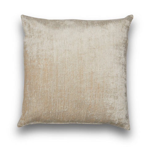 Silk Velvet IKAT Cream Large Square Pillow