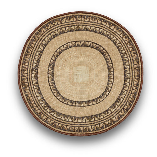Blonde Patterned Binga/Tonga Basket Small