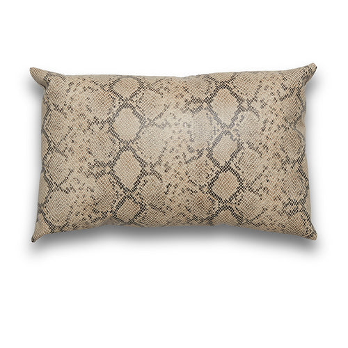 Faux Snakeskin Lumbar Pillow