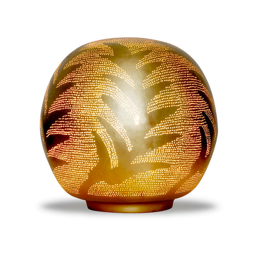 Table Lamp Ball Leaf Medium Gold - TLBLEAMEGO