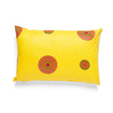 African Wax Print Yellow Lumbar Cushion