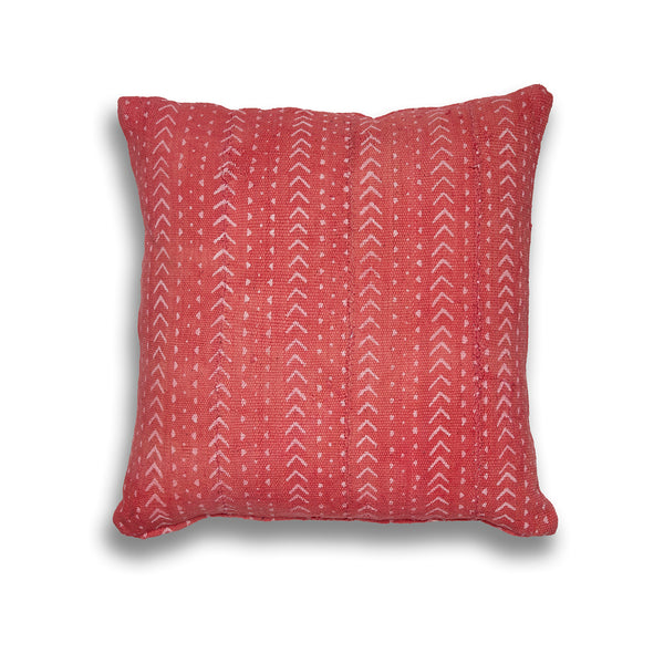 Genuine Mudcloth Pink Arrows Square Cushion