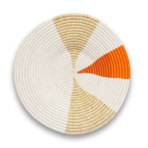 White Neutral and Orange Pie Slice Basket