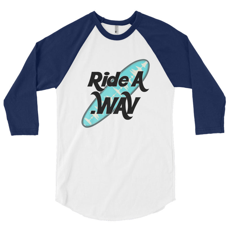 Ride an Audio Wave - 3/4 sleeve raglan shirt