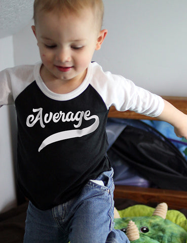 Average - Infant Baseball Shirt