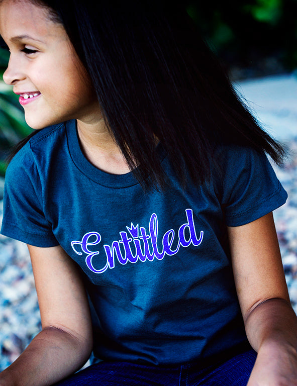 Entitled - Toddler Tee - Heather Gray