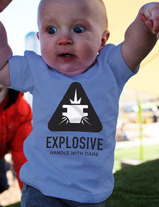 Explosive: Handle with Care - Infant Tee - Blue