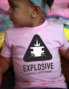 Explosive: Handle with Care - Infant Tee - Pink