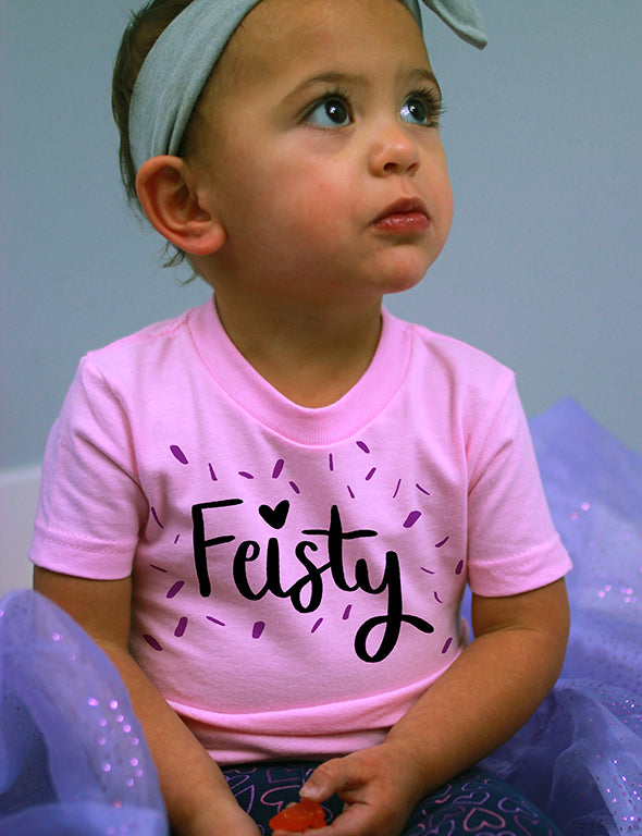 Feisty - Infant Tee - Pink