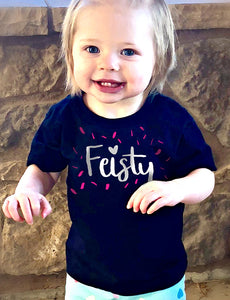 Feisty - Infant Tee - Black