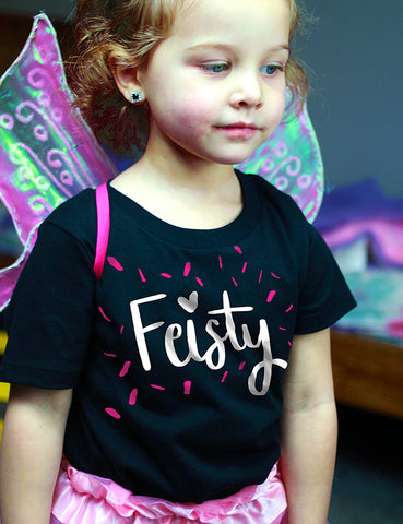 Feisty - Toddler Tee - Black