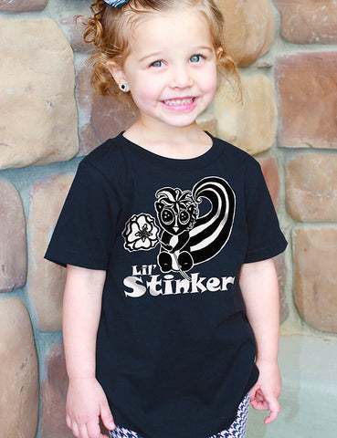 Lil Stinker - Toddler Tee - Black