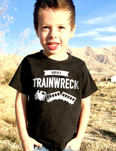 Kind of a Trainwreck - Toddler Tee - Black