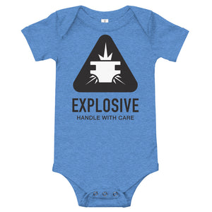 Explosive: Handle with Care - Onesie - Blue