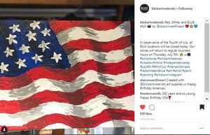 YAY! Blick Art Materials Featured My Patriotic Art on Instagram!