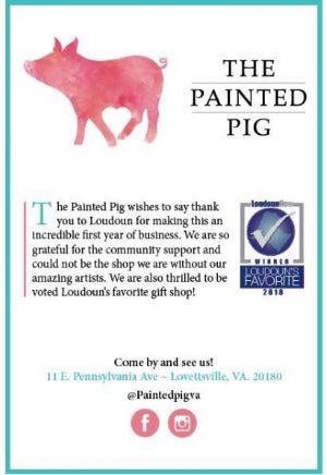 Find my art at award-winning gift shop, The Painted Pig in Lovettesville, VA