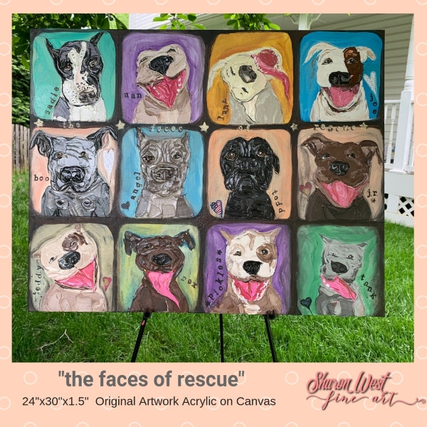 Check out my Donation Painting for Stand Up for Pits Foundation Fundraiser