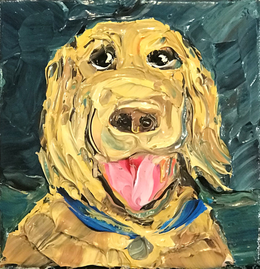 """My Golden"" - 6"" x 6"" x 1.5"" - Artwork"
