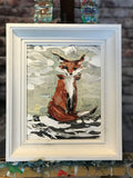 Fox in the Snow (Framed) - Artwork
