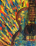 """Git It"" Impressionist Guitar - Artwork"
