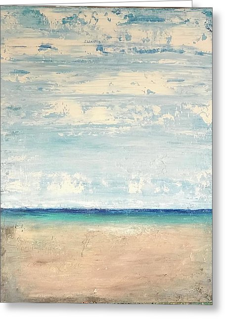 Abstract Seascape - Greeting Card