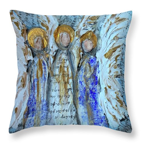 Angelic Trio - Throw Pillow