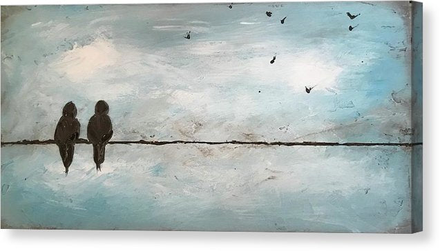 Birds On A Wire - Canvas Print