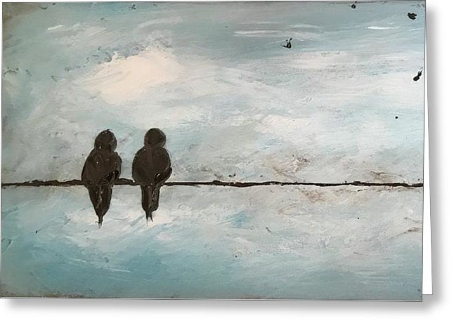 Birds On A Wire - Greeting Card