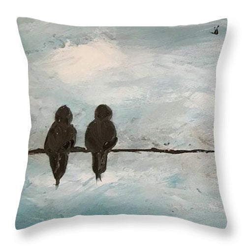 Birds on Wire - Throw Pillow