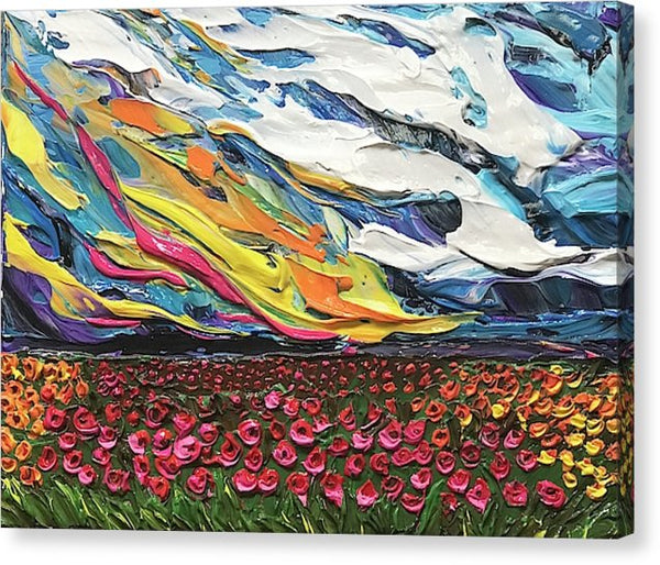 Related product : Blazing Flower Field - Canvas Print
