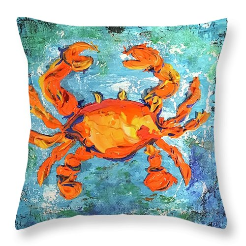 Blue Crab - Throw Pillow