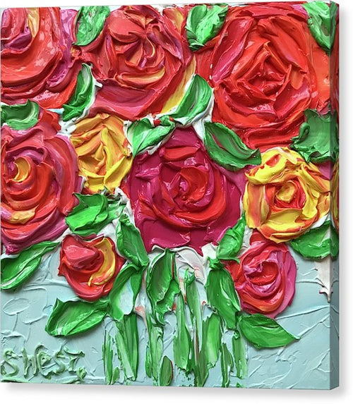 Celebration Roses - Canvas Print